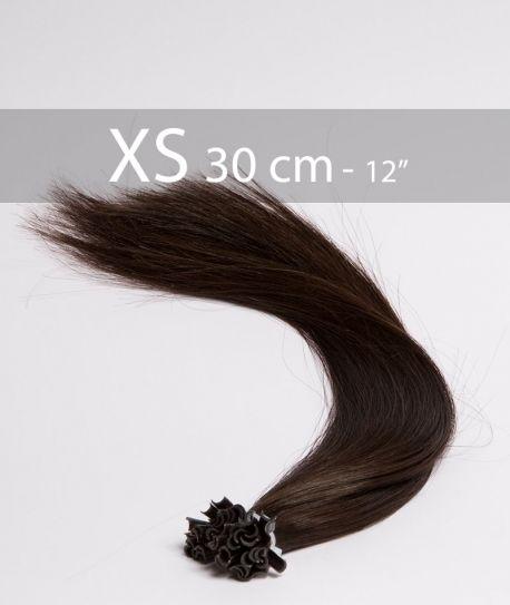 EXTENSIONS DE CHEVEUX à Chaud 30 cm Noir 1B