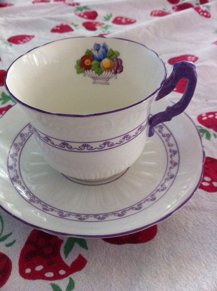 Purple,not your usual teacup color #vintagechina#vintagewedding#atlanta