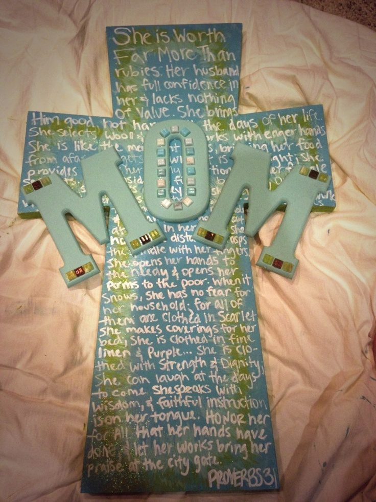 Mother's Day cross craft proverbs 31 create
