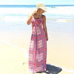 SKY Seb Strapless Maxi Dress