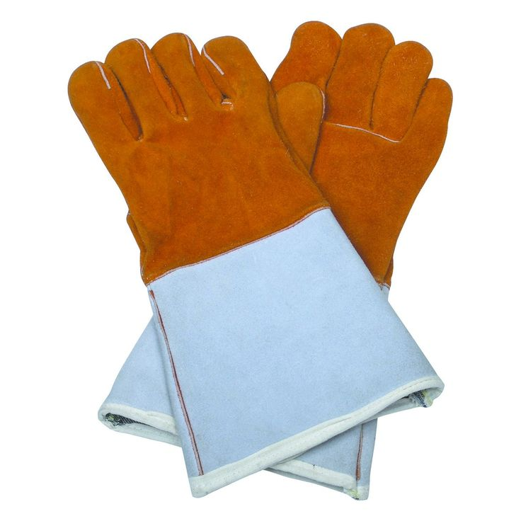 These would work as the gloves, but would need to distress the stiff cuff. Recommend welding supplier or Army Navy to look for other possibilities. Fire Resistant Welding Gloves