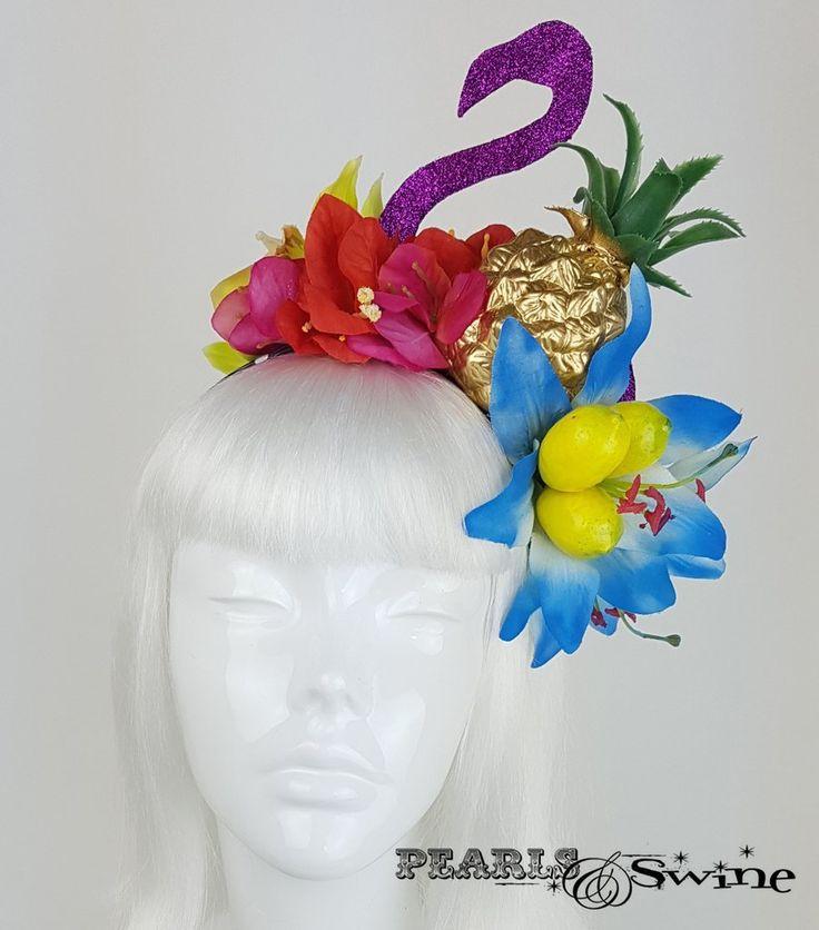 Tropical Fruit Flamingo Flower Headdress Quot Temp 234 Te