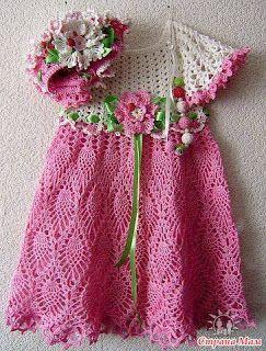 Croche pro Bebe: For Bebe, Ems Hang, The Bebe, Baby Vestiré, Bebe Charts, Hang Da, Bello Crochet, Hang Pro, Vestidos A Crochet Bebe