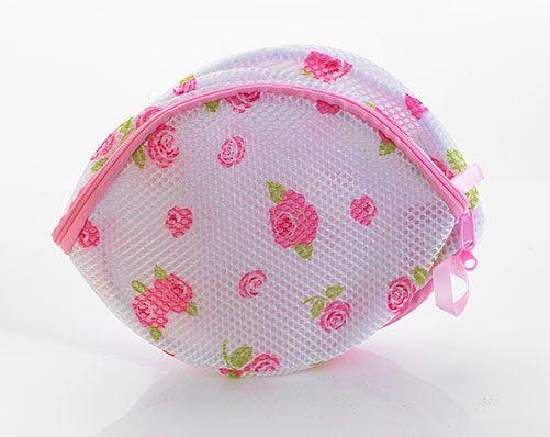 Set of 2 Rose Washing Net Bra Bags