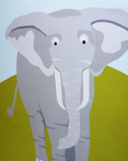 Ελέφαντας. Λεπτομέρεια ζωγραφικής τοίχου σε βρεφικό δωμάτιο ζούγκλα. Δείτε περισσότερες ιδέες διακόσμησης για το παιδικό ή βρεφικό δωμάτιο στη σελίδα μας  www.artease.gr