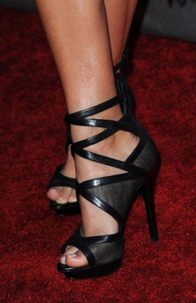 Black Strappy Heels <3