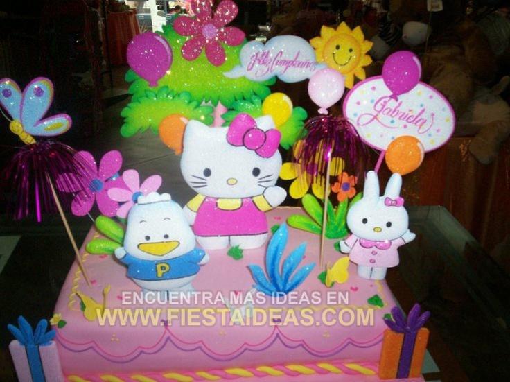 Kitty Decoracion De Tortas ~ idea de Torta Hello Kitty 2 Tortas Hello, De Tortas, Tortas Infantil