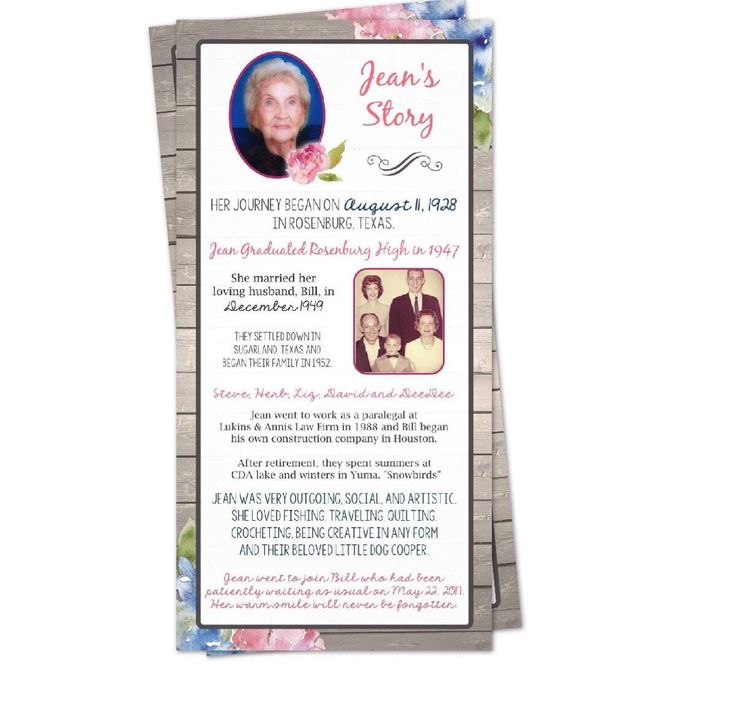34 best In Memory Of, Celebration of Life, Funeral Program, images - death announcement cards free