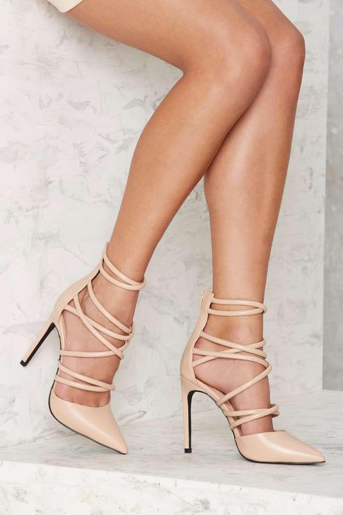 Cecily Vegan Leather Heel