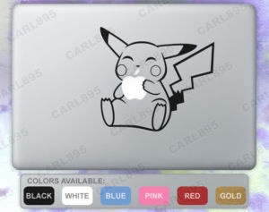 Adorable Pikachu sticker for your MacBook!