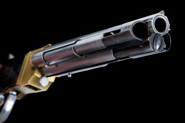 Venditti pistol, rare, and really interesting, it was made in 19th century, holds up to 26 bullets in three tubes under the barrel.