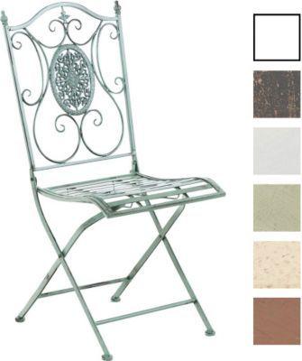 Unique Eisen Garten Stuhl SIBELL Metall Stuhl klappbar Dehsign nostalgisch antik Jetzt bestellen
