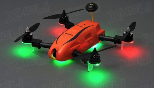 Top RC Hobby Kingdowin KDW280 FPV Racing Drone Quad Drone Racer RTF (Orange)