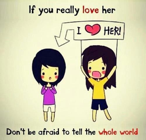 Don't be afraid... #teamlesbian #lgbt