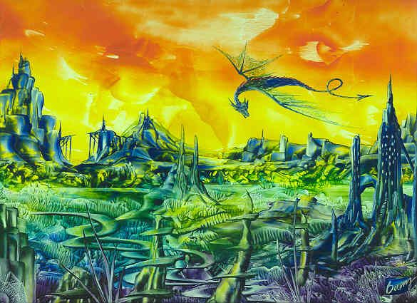Encaustic Art by Barry Moulton- original fantasy art in the ancient medium of pigmented beeswax!