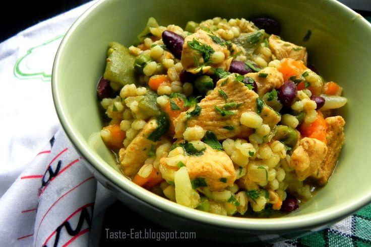 Taste Eat: Lekki pęczak z warzywami i kurczakiem