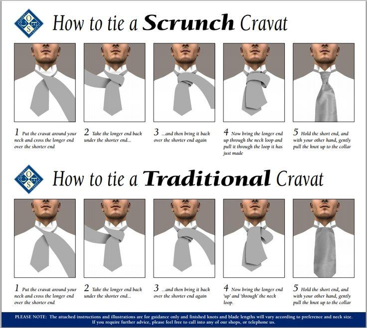 How to tie a cravat.