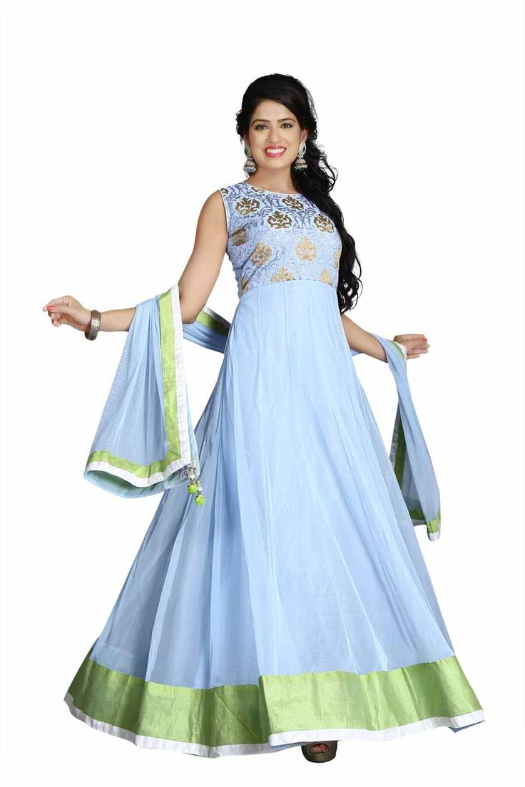 """Higglerr.com Designer Embroidered anarkali Suit designs and customize Indian ethnic wear for women!"" Awesome post by Higglerr Online Shopping #fashion"