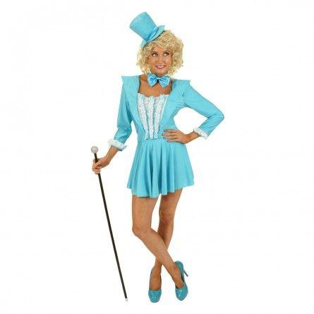 Womens Blue Tuxedo Costume