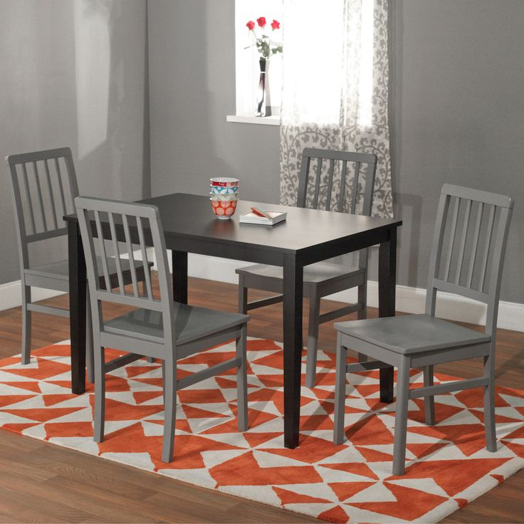 Black and Grey 'Camden' 5-piece Contemporary Dining Set | Overstock.com Shopping - Big Discounts on Dining Sets I love the contrast