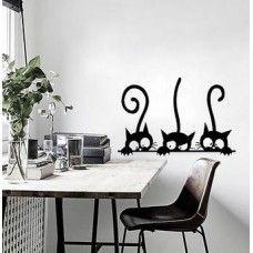 Fekete macskák falmatrica