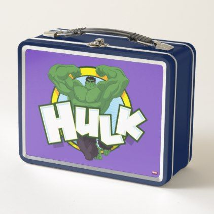 #Hulk Character and Name Graphic Metal Lunch Box - #marvel #comics & #movies #gifts