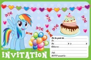 Invitation rainbow dash my little pony