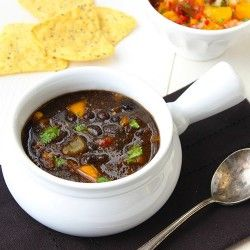roasted red peppers black bean soup black beans red pepper soup soup ...