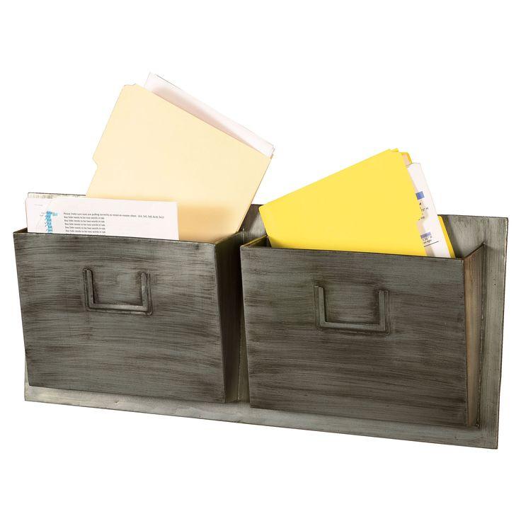 Elegant Metal 2 Slot Industrial Mailbox   $39.99 @hayneedle · Office FunOffice IdeasIndustrial  ...