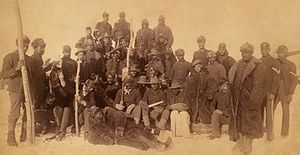 Buffalo soldiers of the 125th Regiment, circa 1890. #civilwar