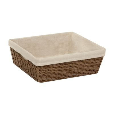 Honey Can Do STO-0356 Parchment Cord Basket with Liner