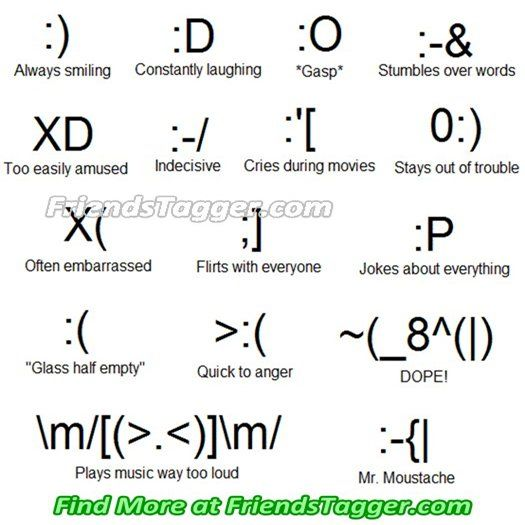 emoticons for facebook | Tag Your Friends as Emoticons on ...