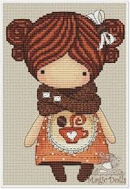 Resultado de imagen para magic dolls cross stitch