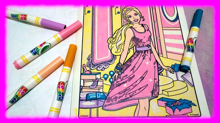Colouring Pages from Crayola Color Wonder BARBIE Watch