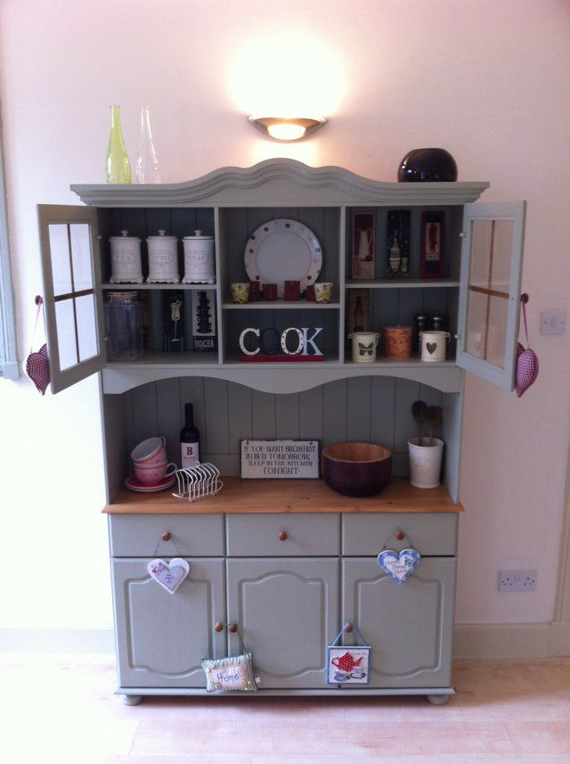 Stunning Painted Welsh Dresser - Farrow & Ball French Gray