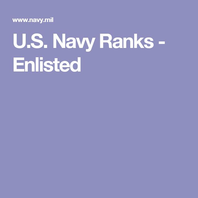 U.S. Navy Ranks - Enlisted