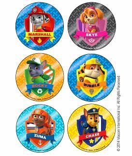 Nickelodeon Paw Patrol Party Supply Favor Pack of 90 Character Badge Stickers Nickelodeon http://www.amazon.com/dp/B00N9DA9GK/ref=cm_sw_r_pi_dp_NnYeub1XHQGCV