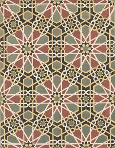 Islamic Geometric Mosaics   Mosque mosaic wall decoration, Cairo, Egypt