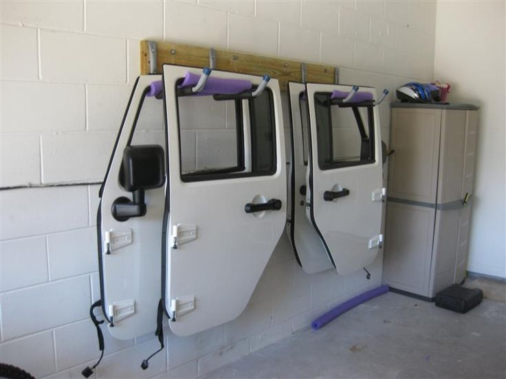 jeep door wrangler doors hangers jk jeeps hanger rack rubicon accessories diy unlimited garage wranglers jkowners storage hard джип рубикон