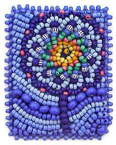 miniature beaded embroidery by Robin Atkins