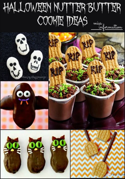 Halloween Nutter Butter Cookie Ideas PLUS Nutter Butter Cookies for every major holiday! Pin it to every holiday board so you don't forget