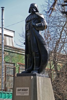 One of the coolest things I've seen in a long time! Darth Vader Statue in Odesa, Ukraine