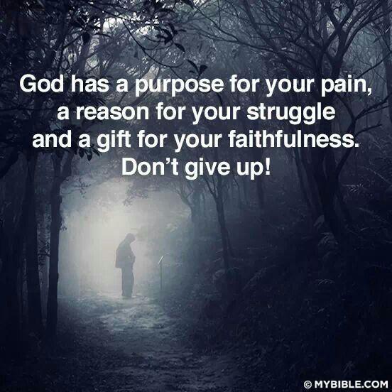 God has a purpose......