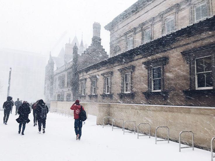 Snow day at The University of Edinburgh