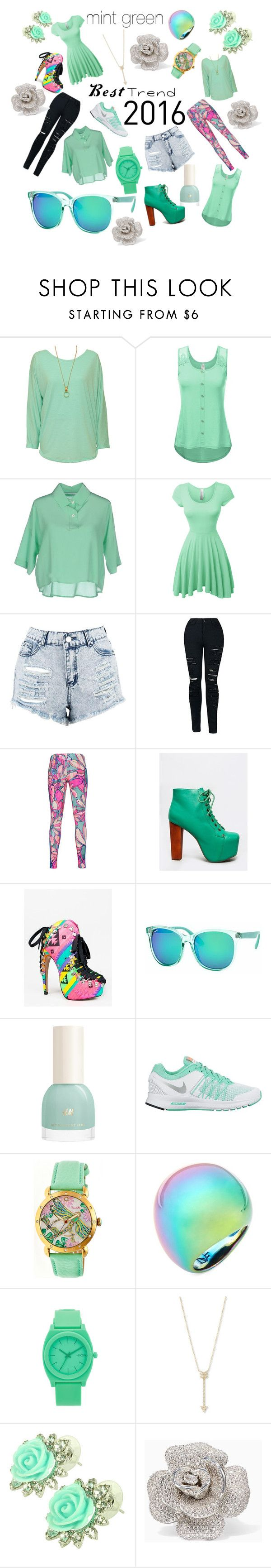 """mint green"" by katondrac ❤ liked on Polyvore featuring WearAll, Lucio Vanotti, LE3NO, Boohoo, adidas Originals, Jeffrey Campbell, Red Kiss, Polar, NIKE and Diane Von Furstenberg"