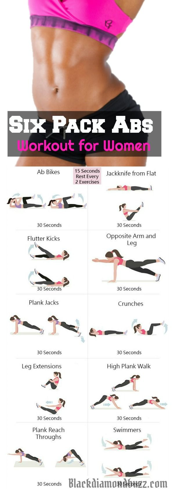 6 Minute Abs Workout for women to Slim and tone your waistline with this killer 6 minute abs workout at home! No equipment needed!