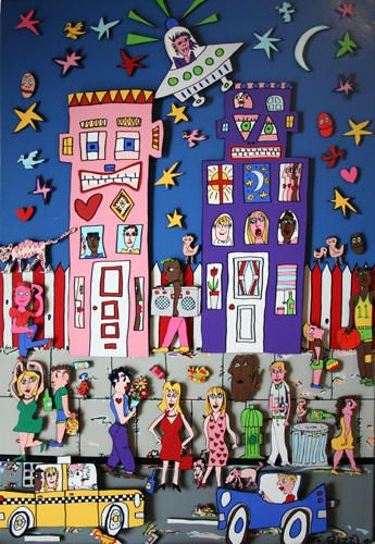 """""""Movin' Up 3D"""" by James Rizzi, 1990"""