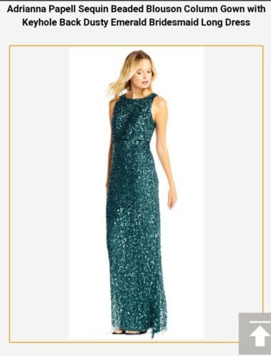 756a1f56004 Adrianna Papell sequin evening dinner occasion dress wedding or maternity  £280
