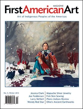 "First American Art Magazine, Issue No. 5, Winter 2014 cover, ""Winter"" by Wendy Red Star (Crow)"