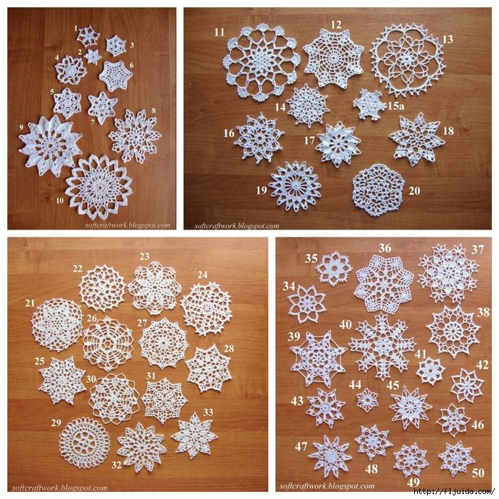 17 Best Images About Crochet Snowflakes On Pinterest